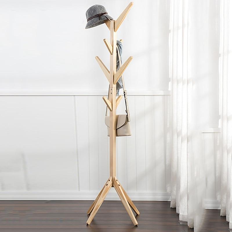 Home Hangers Wood Coat Hat Rack Morden Bedroom Hall Stand ...