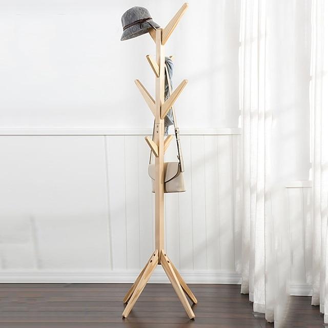 Home Hangers Wood Coat Hat Rack Morden Bedroom Hall Stand Bag ...