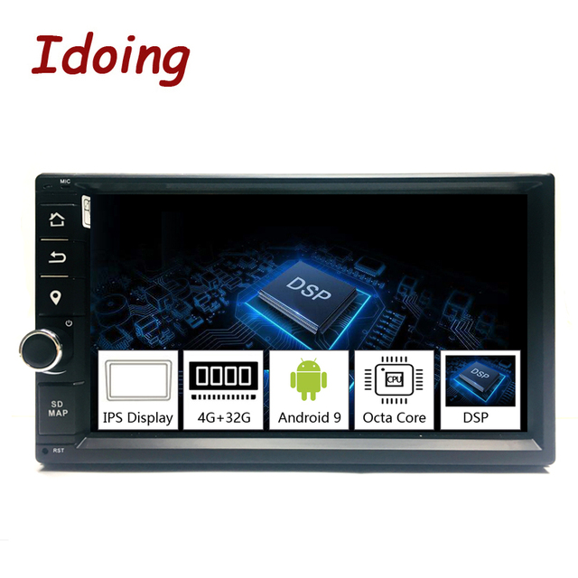 """Idoing 2Din アンドロイド 9.0 7 """"PX5 4 グラム + 32 グラムオクタコアユニバーサル車の Gps DSP ラジオプレーヤー IPS 画面ナビゲーション、マルチメディア Bluetooth"""