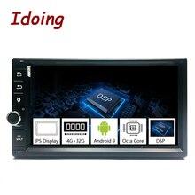 Idoing 2Din Android 9,0 7 «PX5 4G + 32G Восьмиядерный Универсальный Автомобильный GPS DSP радио плеер ips экран навигация Мультимедиа Bluetooth