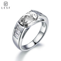 LESF 4 ct Oval cut Fashion Design Style 925 Silver Rings Shine CZ Women Finger Jewelry Beautiful Wedding Ring Can be customized