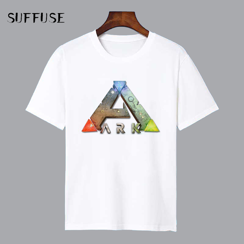 Ark Survival Evolved Shirt For Man Game Logo Print T-shirt Mens casual T-shirt