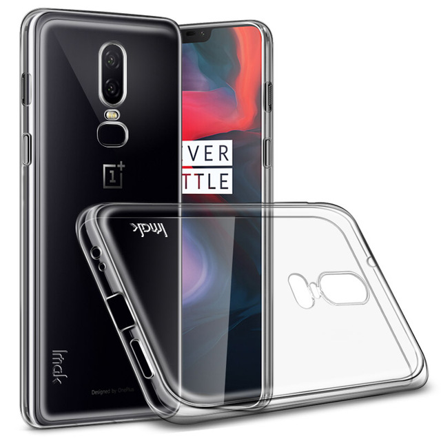 014b3c13329 sFor Oneplus 6 Case IMAK Clear Crystal Silicone Soft TPU Back Cover Phone  Case For OnePlus 5T One Plus 6 Gift Screen Protector