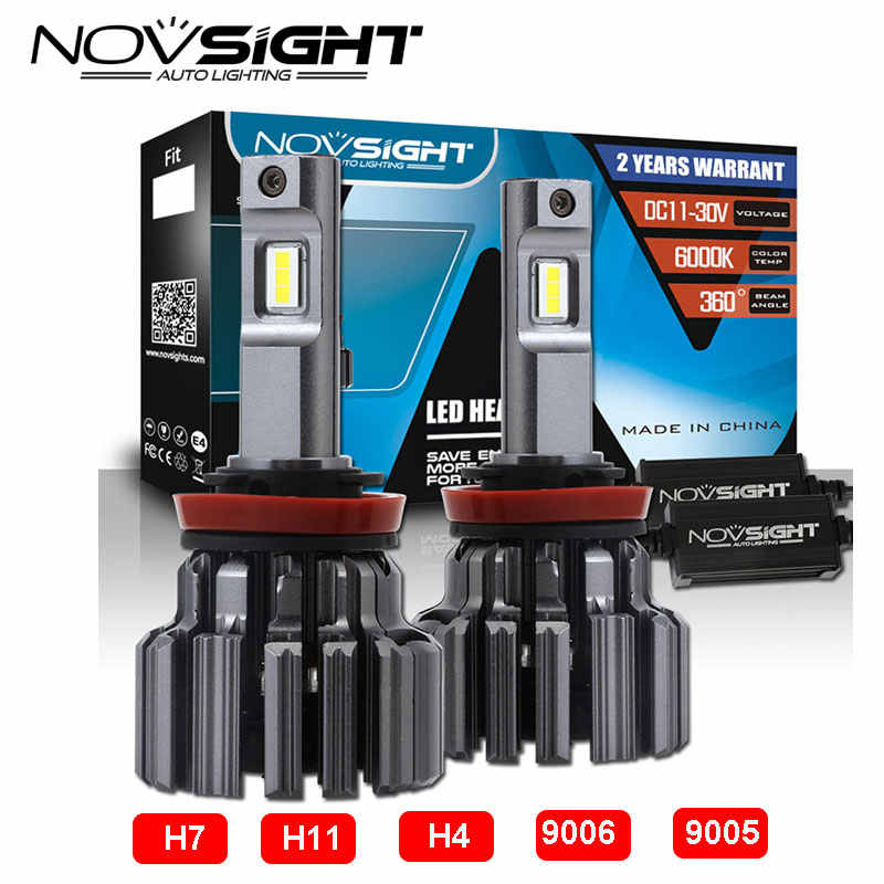 Novsight H7/H11/H4/9005/9006 Led Car Lamps 80w 15000lm/Pair Light Bulbs For Cars 6000k Auto Bulb Led Headlight Replace kits