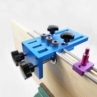 3 em 1 kit guia de perfuração localizador carpintaria marcenaria alta precisão passador jigs kit carpintaria diy ferramenta|Conjuntos ferramenta manual| |  -