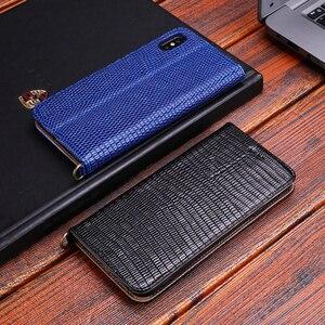 Image 2 - Estojo De Couro genuíno Para o iphone Xs Max X Xr X 8 7 6 6s Plus Flip Stand Durável Macio inner Titular do Cartão Caso Capa Para o iphone 7 8