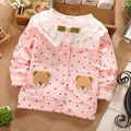 Primavera outono de bolinhas Baby crianças infantil rendas bonito urso meninas casacos Cardigan casaco crianças Outwear casacos MT-S0153