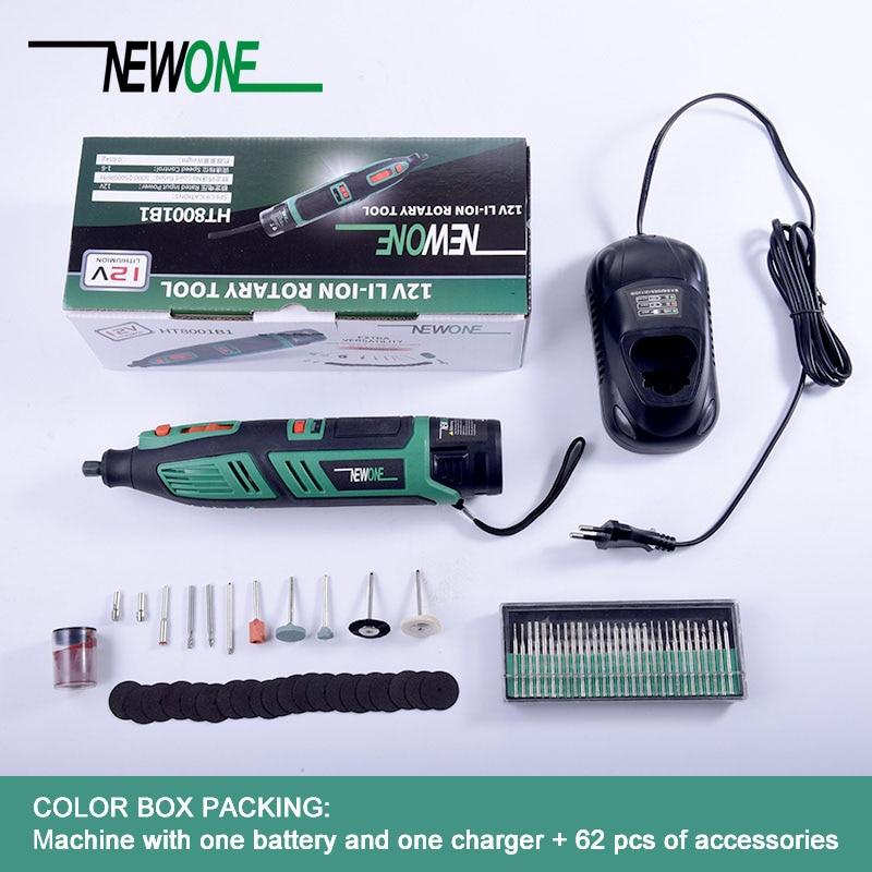 Newone 12 v Accueil DIY portable Dremel Outil Rotatif Liuthium Perceuse Électrique avec Accessoires mutifunctional Outils Électriques