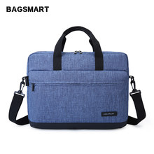 BAGSMART 15.6 Inch Laptop Briefcase Bag Handbag Nylon Briefcase Office Bags Business Computer Bags Blue(China)