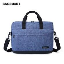 BAGSMART 15.6 inç dizüstü evrak çantası çanta naylon evrak çantası ofis çantaları iş bilgisayar çantaları mavi