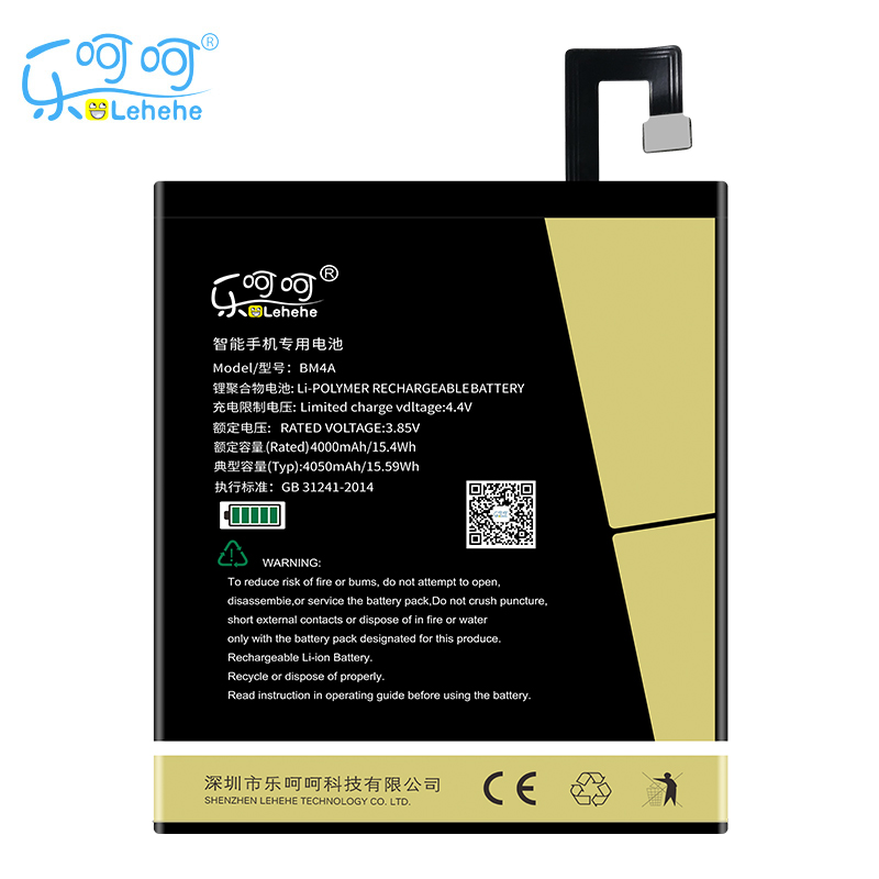 Original LEHEHE Battery For Xiaomi Redmi Pro 4050mAh BM4A High Quality Replacement Bateria Free Tools Gifts