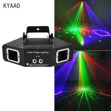 Luz laser de discoteca rgb, feixe de cor completa, efeito de dj, scanner, iluminação de palco