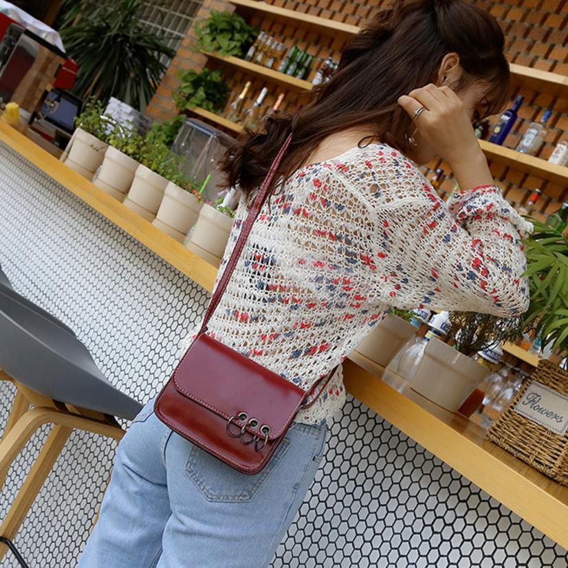Molave Shoulder Bag new high quality leather Casual Simple Ring Decoration Flap Crossbody Bags shoulder bag women MAR1