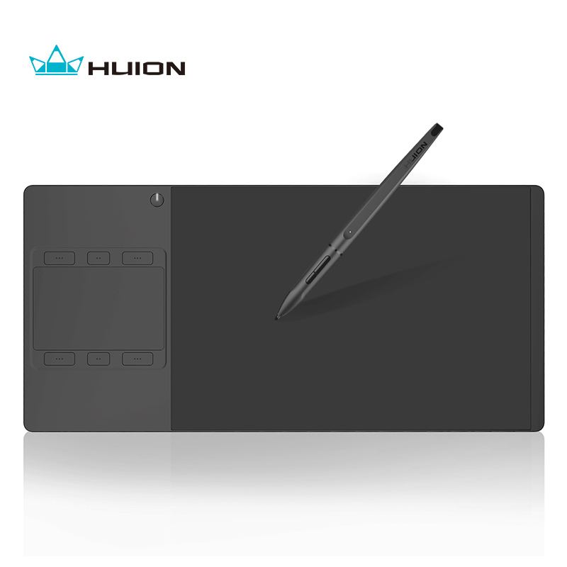 Huion G10T Wireless Graphics Tegningstablet med Finger Touch Funktion Professionelle Digitale Pen Tablets og Gratis Gave Handske