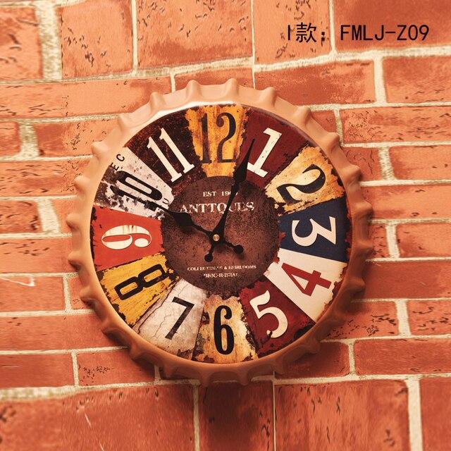 New Arrival Tin SignANTTQUES Vintage Metal Painting Beer Cap Wall Clock Bar Pub