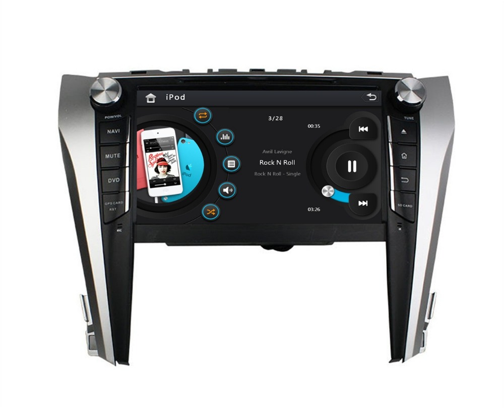 HD 2 din 9″ Car DVD Player for Toyota Camry 2015 With Car Radio gps navigation Bluetooth IPOD USB AUX IN