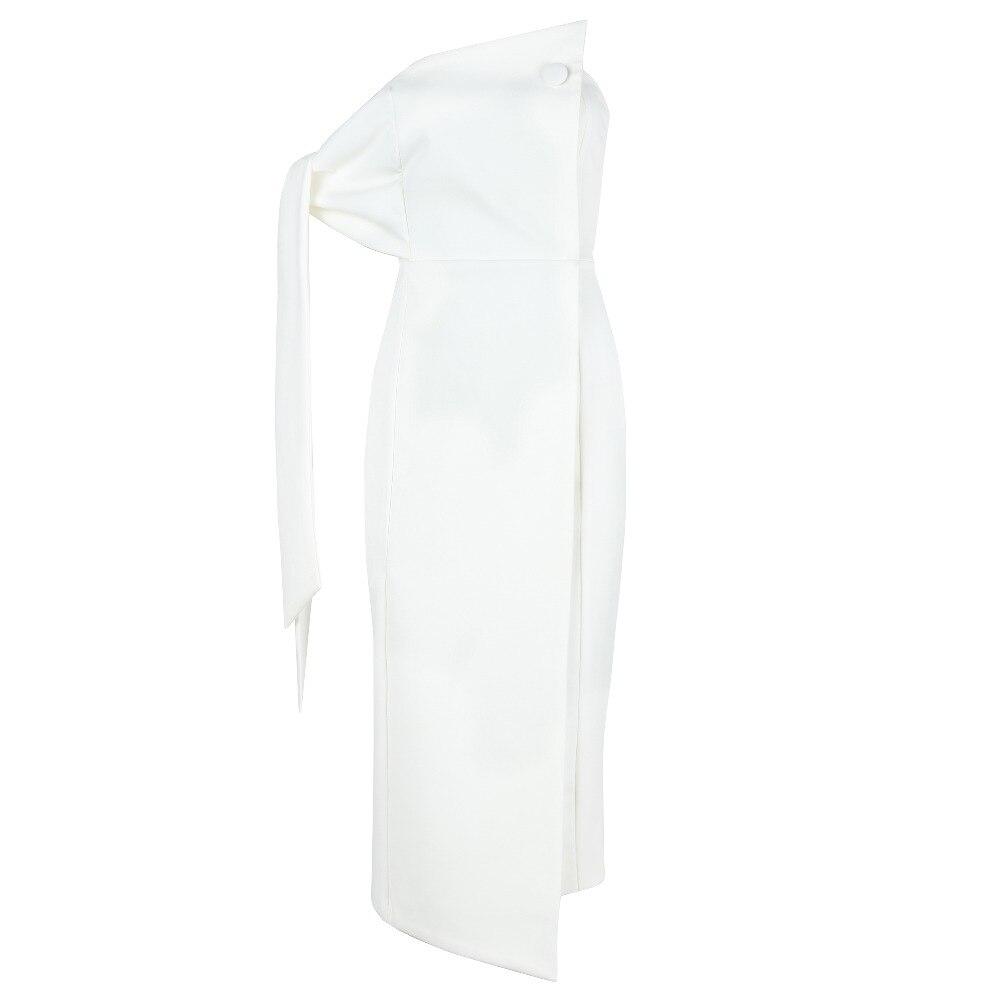D'été Celebrity Élégante Partie Arrivée 2018 Robe Moulante Bretelles Blanc Nouvelle Femmes RqUnCwdw