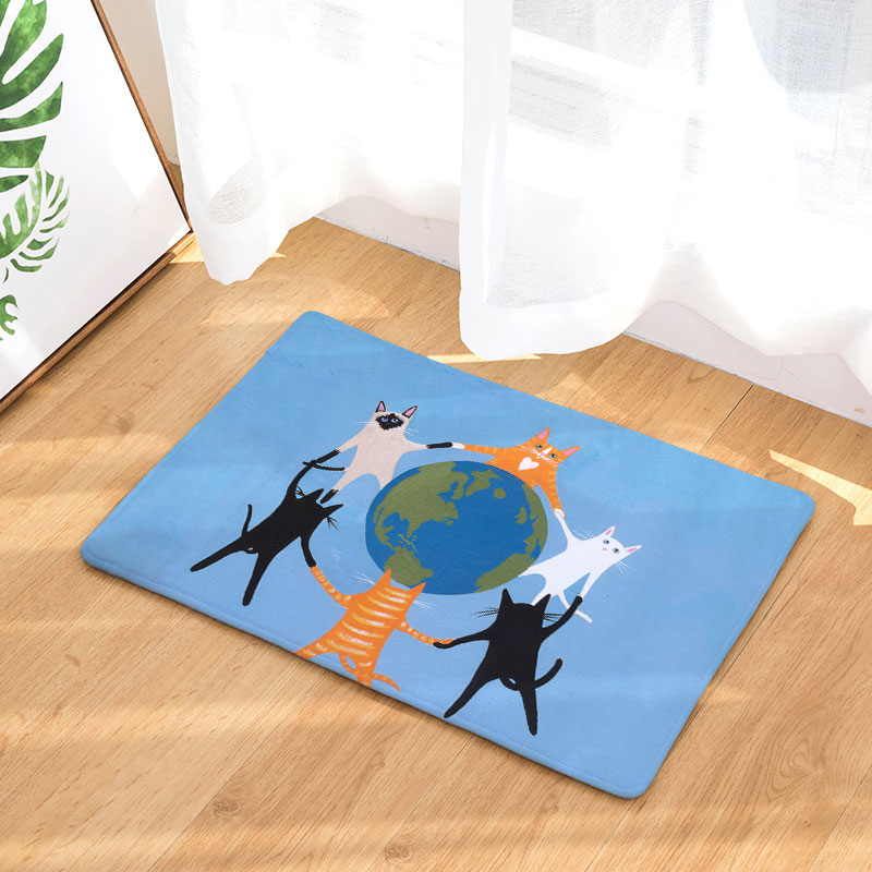 Monily Antislip Waterdichte Deur Mat Cartoon Kat Olifant Muis ...