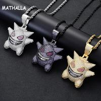 Europe And United States New Big Geng Pendant Pokemon Geng Pendant HIPHOP Necklace