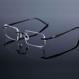 Image 5 - Occhiali di modo Diamante Guarnizioni di Taglio Senza Montatura Occhiali Da Vista Ottica Occhiali Cornice per Gli Uomini Occhiali