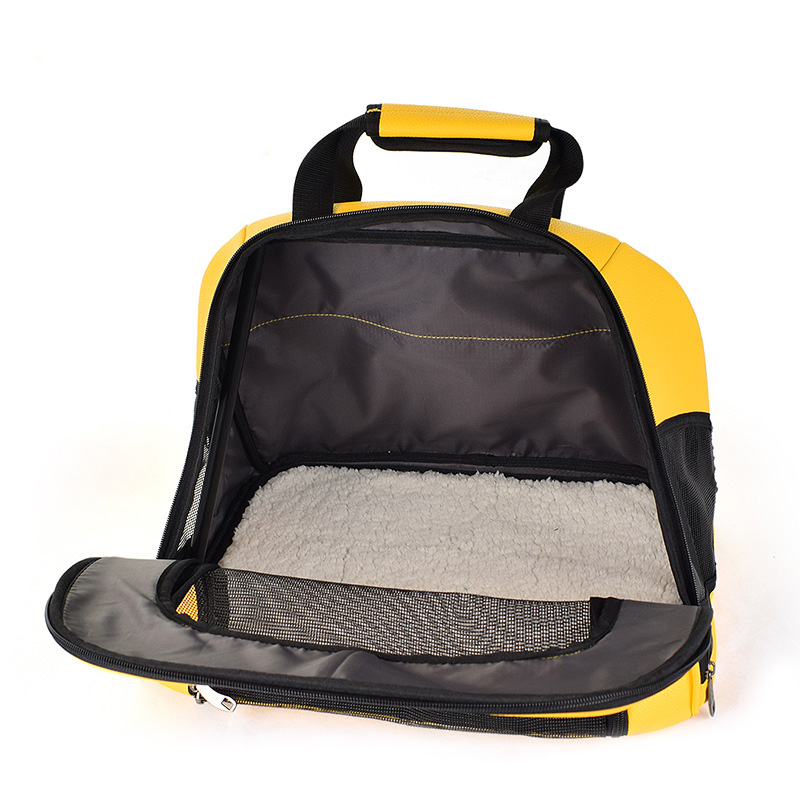 Pet Cat Carrier Foldable Travel Bag Breathable Outdoor Handbag Pet Production for Cats Dog Multi-functional Fashion Yellow 5