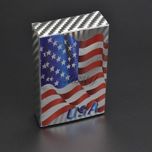 UB The American Statue Of Liberty Plastic Gold And Silver playing card holographic plastic card and hot stamping gold or silver pvc card supply