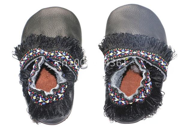 Handmade Soft Bottom Fashion Tassels Genuine Leather Baby Moccasins Newborn Babies Shoes girls leather Prewalkers Boots