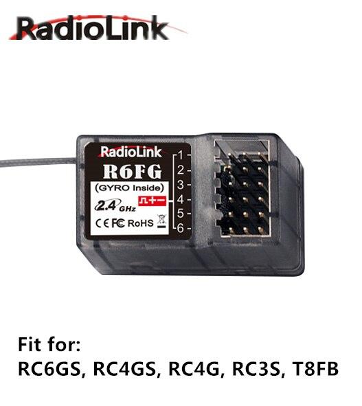 Original Radiolink R6FG Empfänger 2,4 ghz 6 Kanäle FHSS Gyro Funktion 4,8-10 v High-spannung fernbedienung für RC6GS, RC4GS, RC4G, RC3S,