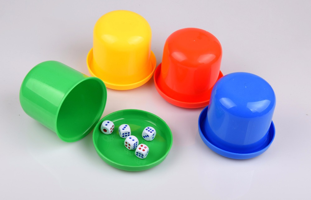 1pc Polyhedral Dice Cup Drinking Board Game Gambling Dice Box With Table Games