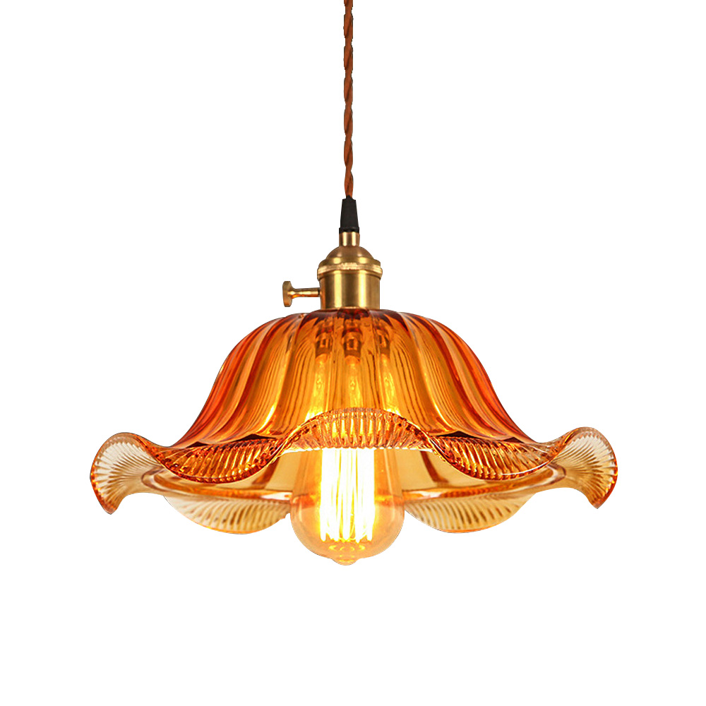 Home pendant lights loft vintage lamps retro stained glass for Glass hanging floor lamp