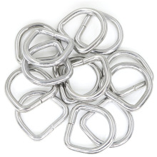 10pcs Rings for Non Welded D ring Silver D-Rings Webbing Strapping Bags Handbag Hardware Accessories