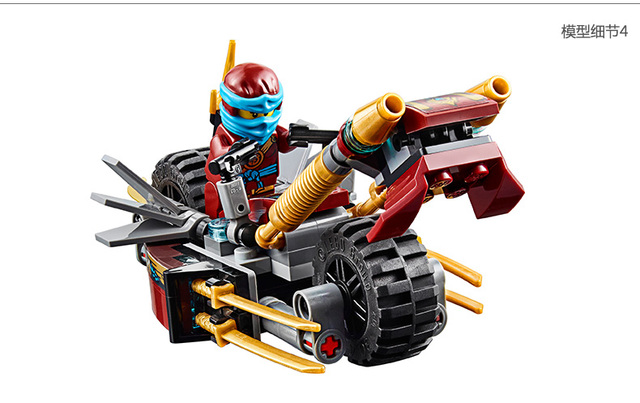 Ninjagoed LEPIN Bike Chase Marvel Ninja Building Block Model Kits Toys Compatible With Legoe