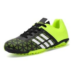 Dzieci piłka nożna 2018 mężczyźni chłopiec knagi do piłki nożnej na murawie buty piłkarskie TF twarde tenisówki na kort trenerzy nowy projekt korki rozmiar 31-43