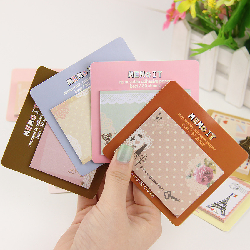 1PC Korean Cute Kawaii Planner Diary Scrapbooking Sticker Sticky Notes Memo Pads Stationery Notebook Office Supplies