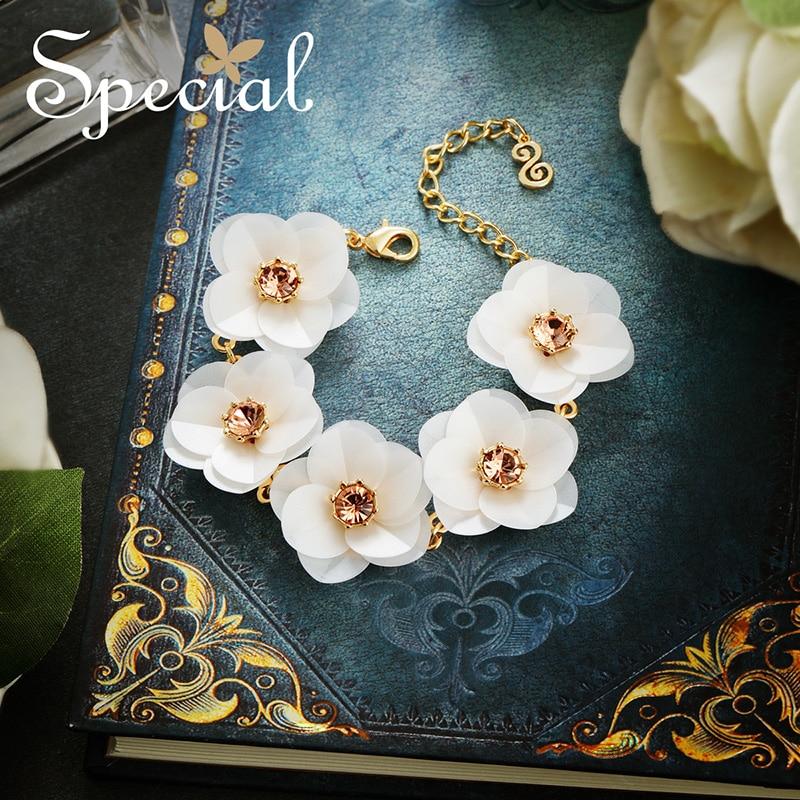 The SPECIAL  Brand euramerican flower temperament bracelet flatter skin bracelets for women summer new collection S1842C