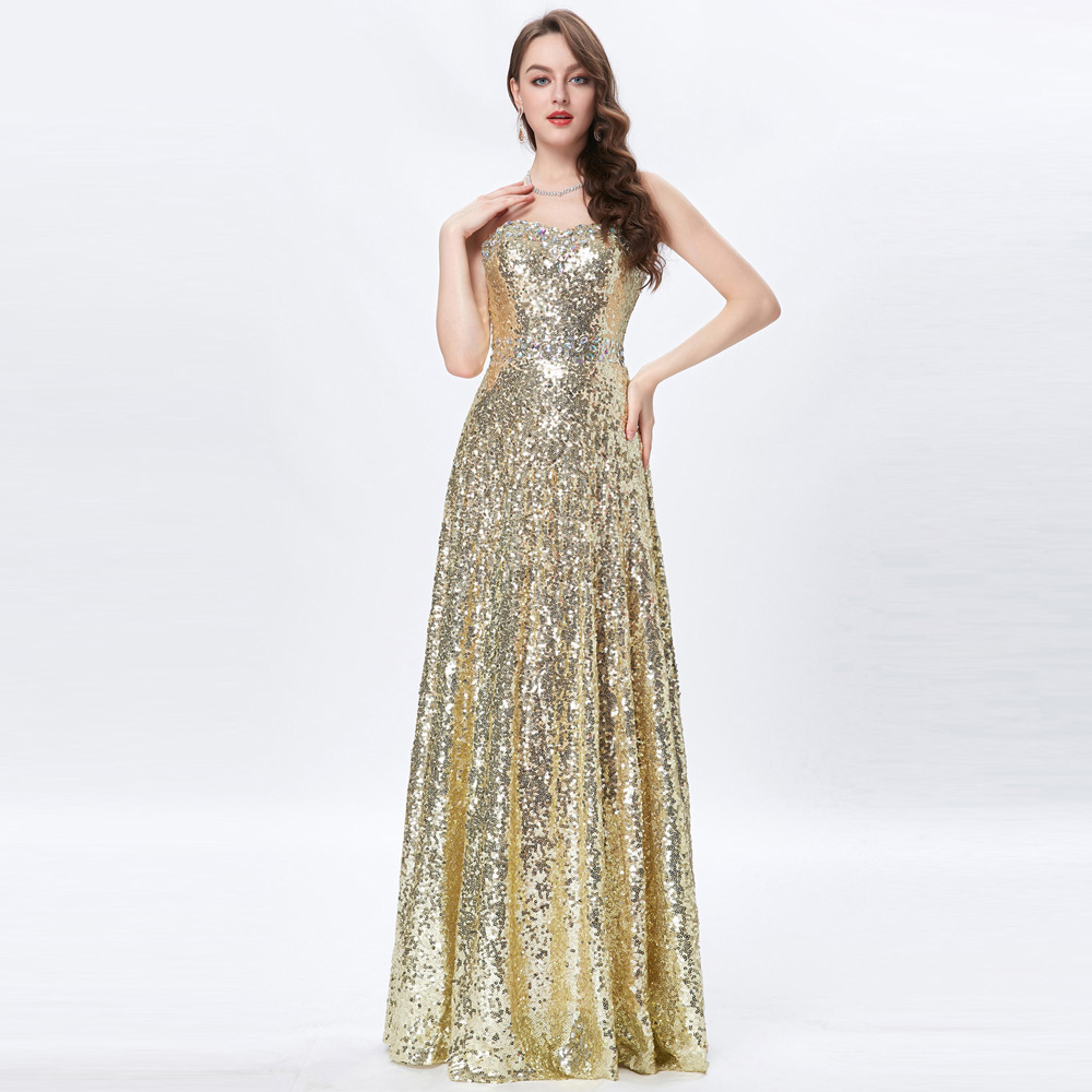 Popular Grace Karin Gold Evening Dresses-Buy Cheap Grace Karin ...