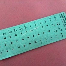 Free shipping 50pcs/lot High quality Spanish computer keyboard stickers