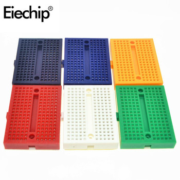 10Pcs For Arduino Breadboard SYB-170 Mini Solderless Prototype Breadboard Experiment Test Breadboard 170 Tie-points 35*47*8.5mm