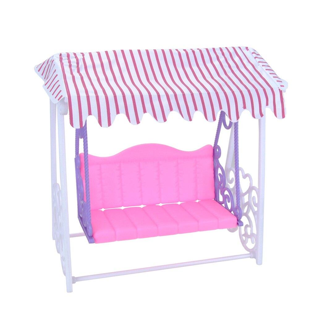 eting hermosa casa de muecas muebles de jardn columpio de plstico parque infantil para barbie