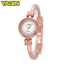 2018 Fashion Business Gold Watch Women Steel Bracelet Watches Elegant Ladies Diamond Watch relogio masculino