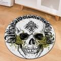 Персональный 3D череп круглый ковер мягкие фланелевые пены памяти большой размер ковры для гостиной дома коврики детские игровые коврики