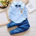 new 2016,baby boy clothes,autumn spring, children clothing set,kids clothing,sport suit,long sleeve shirt + jeans pants 2pcs set