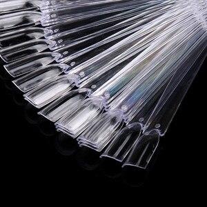 Image 2 - 32 pçs da arte do prego vara exibir ventilador claro em forma de dicas falsas roda polonês uv gel practicestransparente dobrável manicure ferramenta 9.6