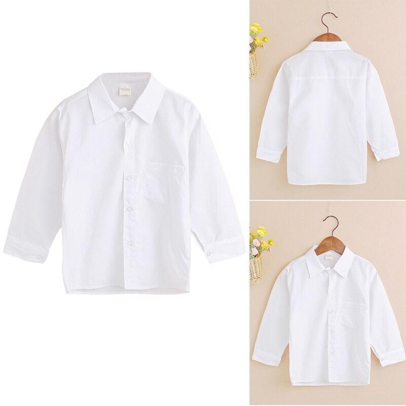 f6aecb125c 2018 divat fiúk póló formális tiszta fehér pólók a gyerekeknek fiúk ...