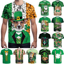 107aa300 Funny Printed Green Irish Shamrock T-Shirt St Patricks 3D Print Men Women T- shirt Cute Short Sleeve Top Tees
