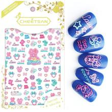 Newest TSC-130 3d nail sticker back adhesive decal template DIY decorations for art