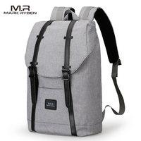 2017 MarkRyden Men Backpack Student School Bag Large Capacity Trip Backpack USB Charging Laptop Backpack For14inches