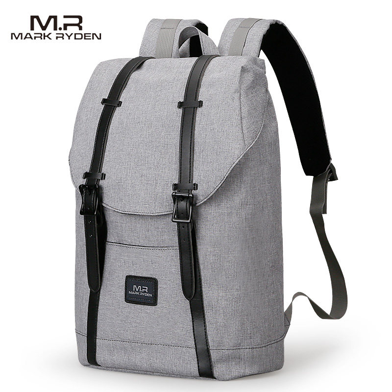 Mark Ryden Men Backpack Student School Bag Large Capacity Trip Backpack USB Charging Laptop Backpack Fits 15inches Laptop