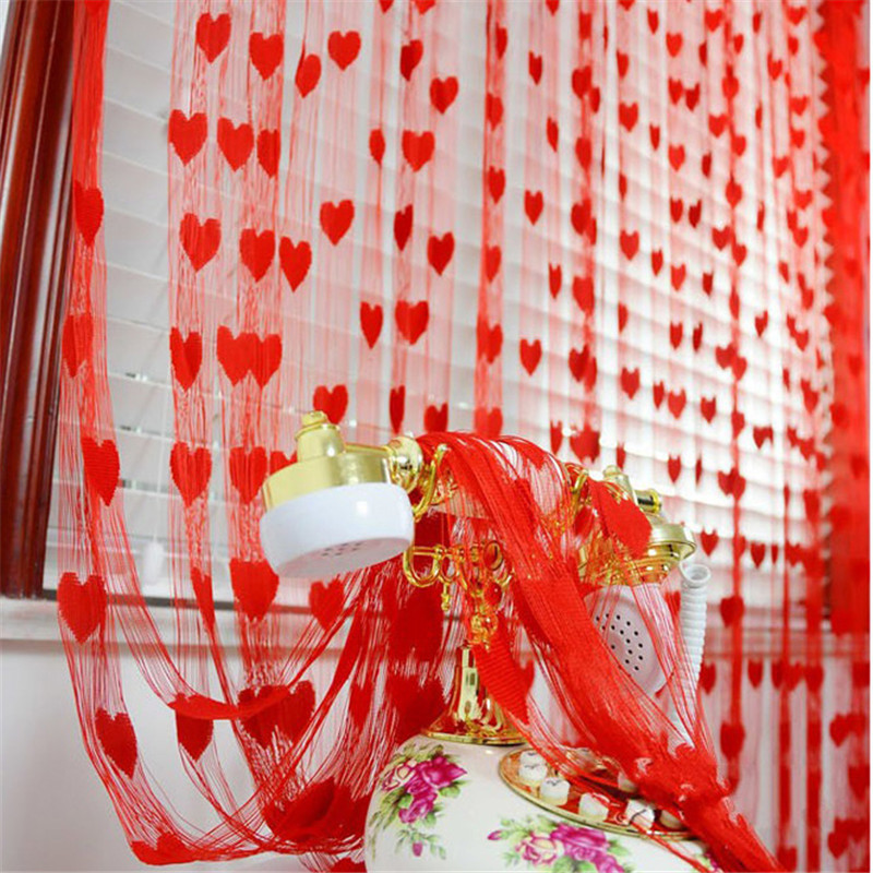 ①1pc Heart Tassel String Line Curtains for Wedding Home Living Room ...
