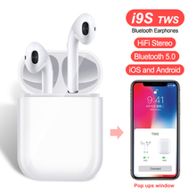 i9S TWS Wireless Earbuds Double Ear Mini 5.0 Bluetooth Earphones Stereo Binaural Calls Mic Pods Mini Wireless Headset For IPhone цена